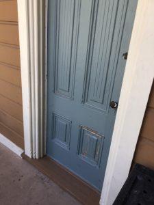 Boyd Gate House door - repaired
