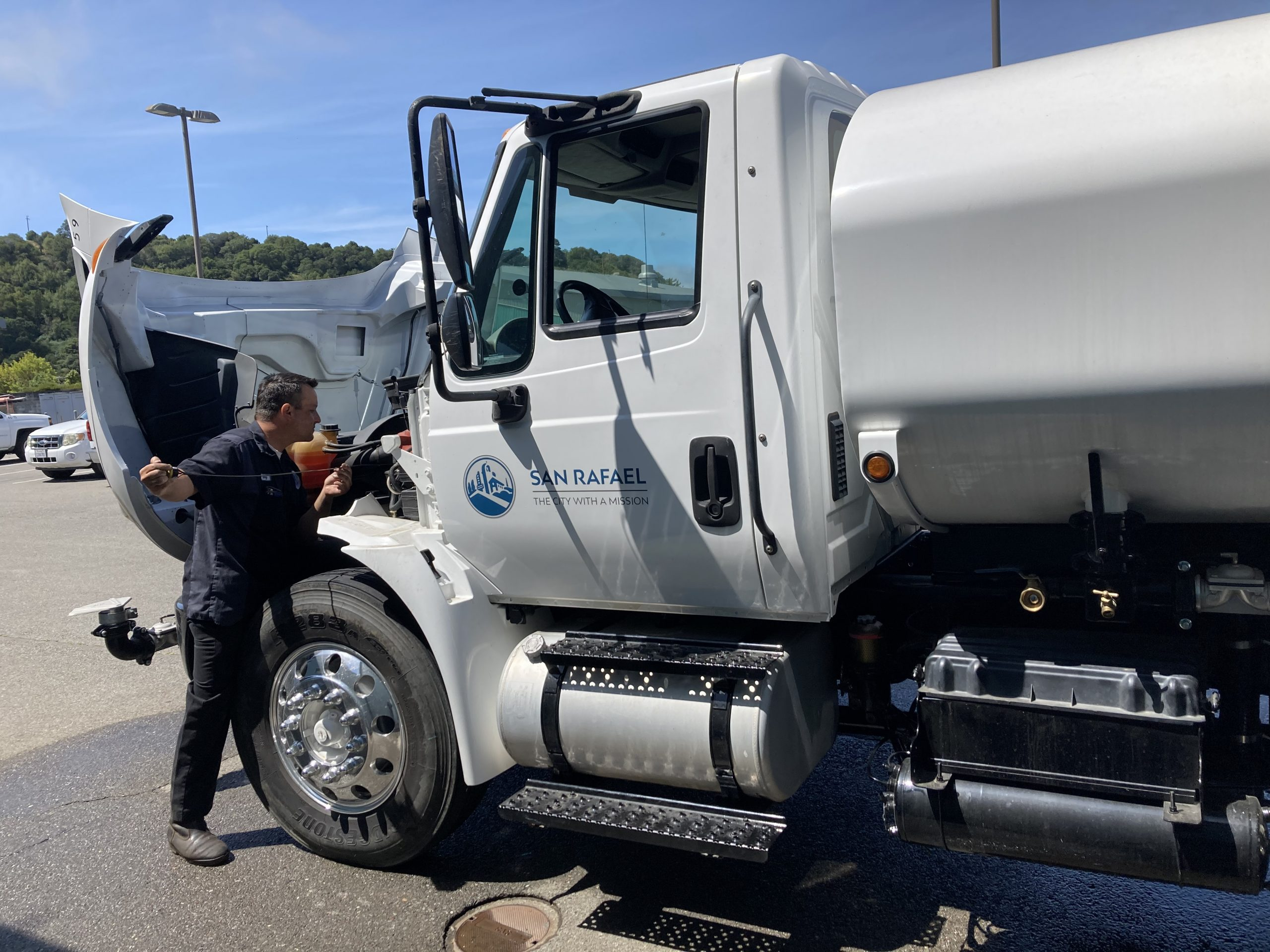 New DPW water truck