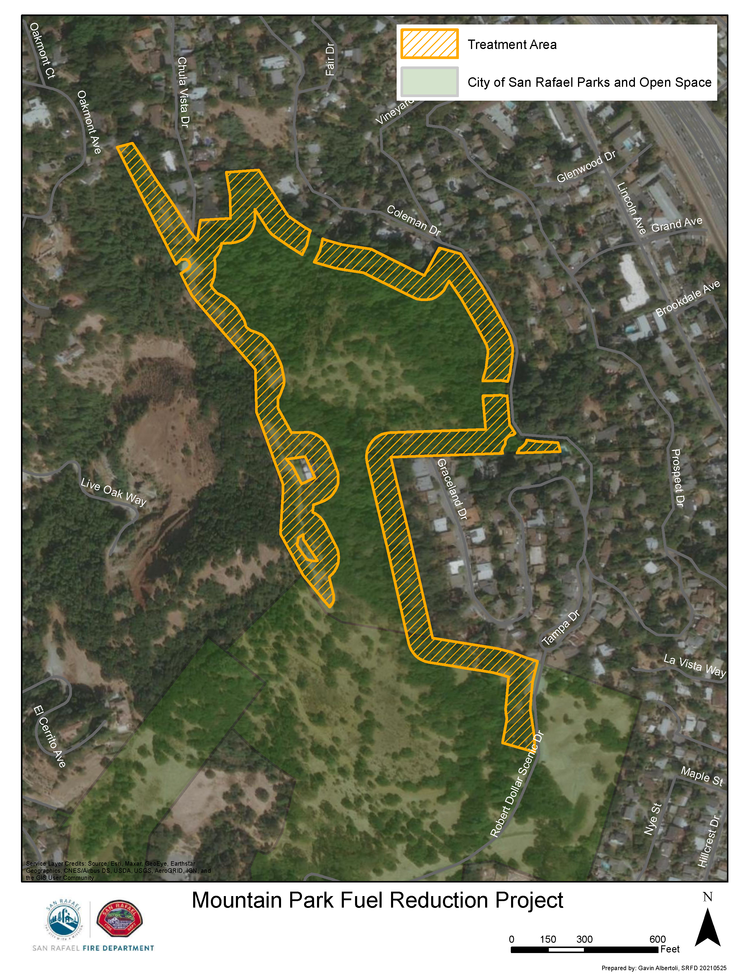 Mountain Park Project Map