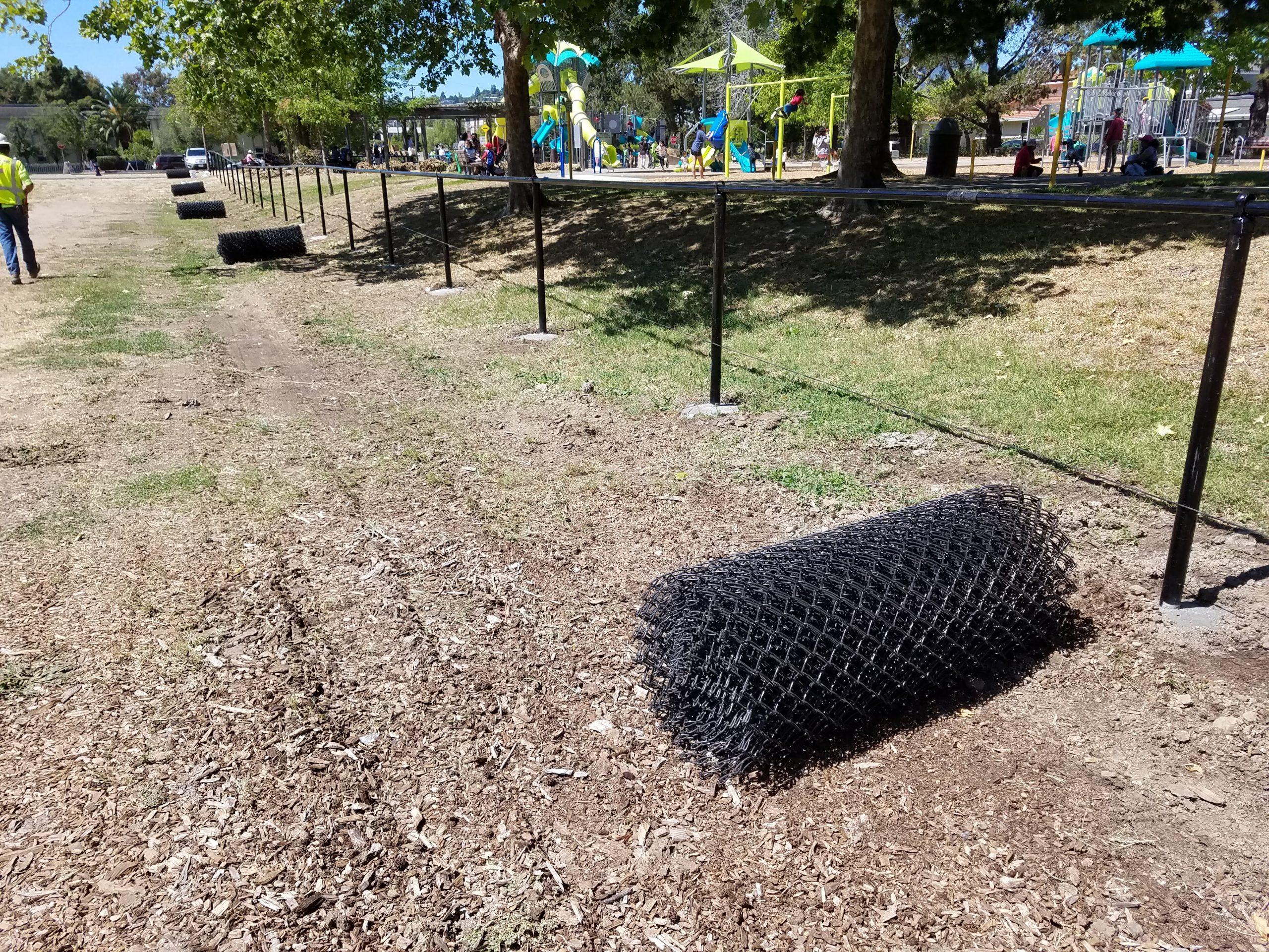 Pickleweed Park perimeter fence