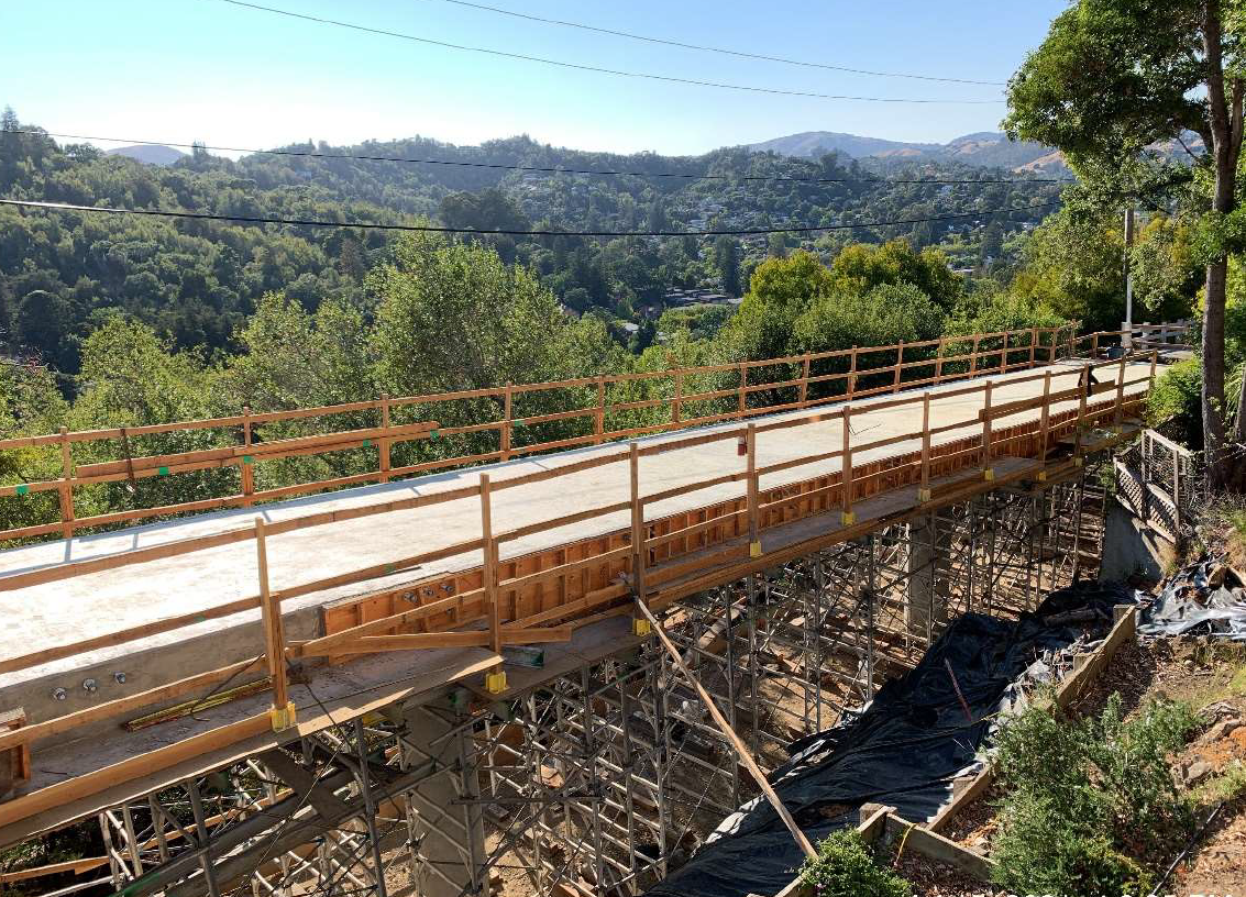 Southern Heights Bridge replacement drone shot