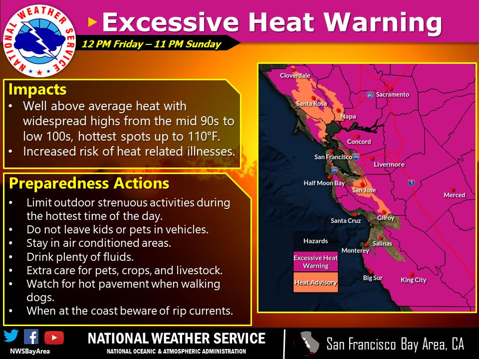 Heat Advisory July 9-11, 2021