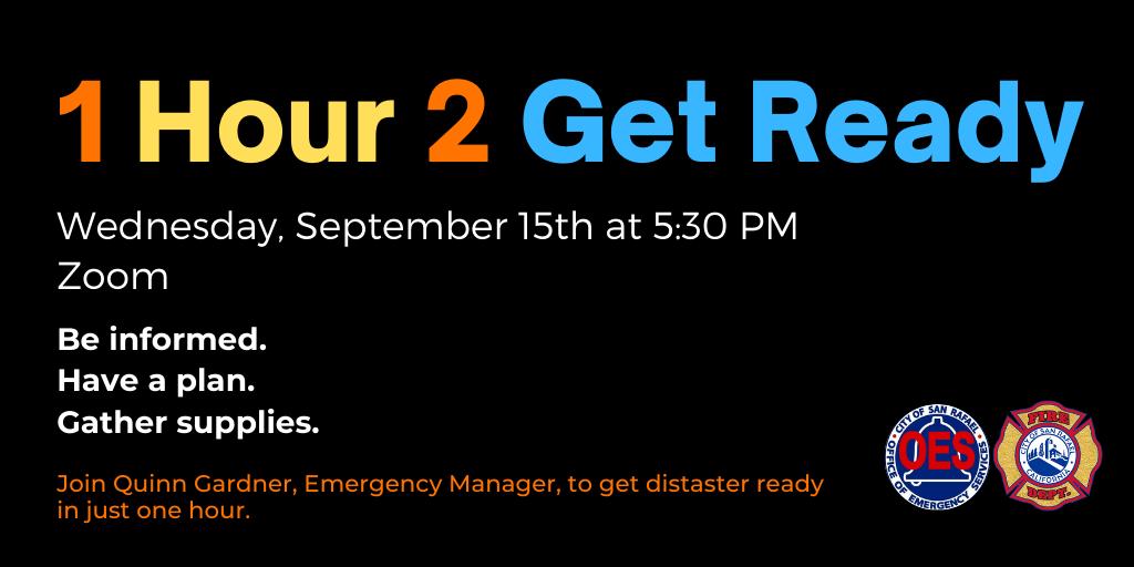 1 Hour 2 Get Ready September 21