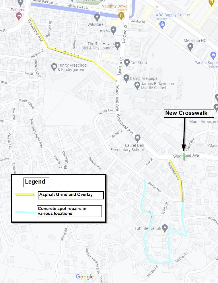 Bungalow-Woodland Work area map