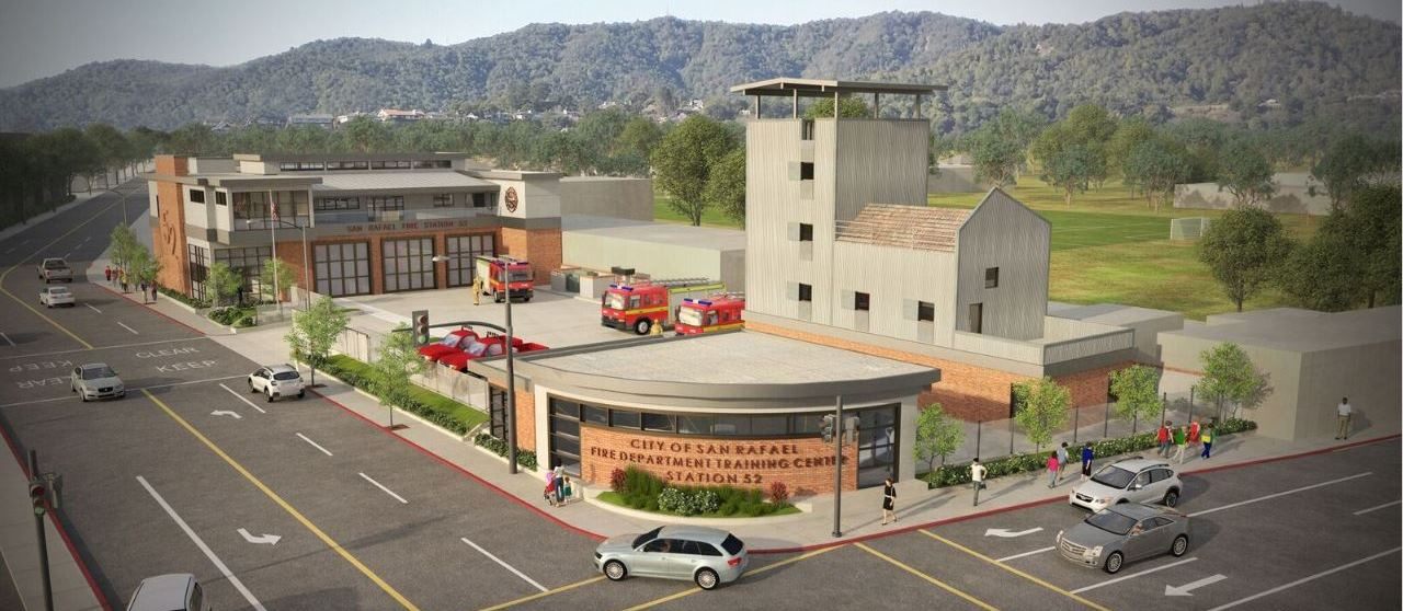 Rendering of Fire Station 52