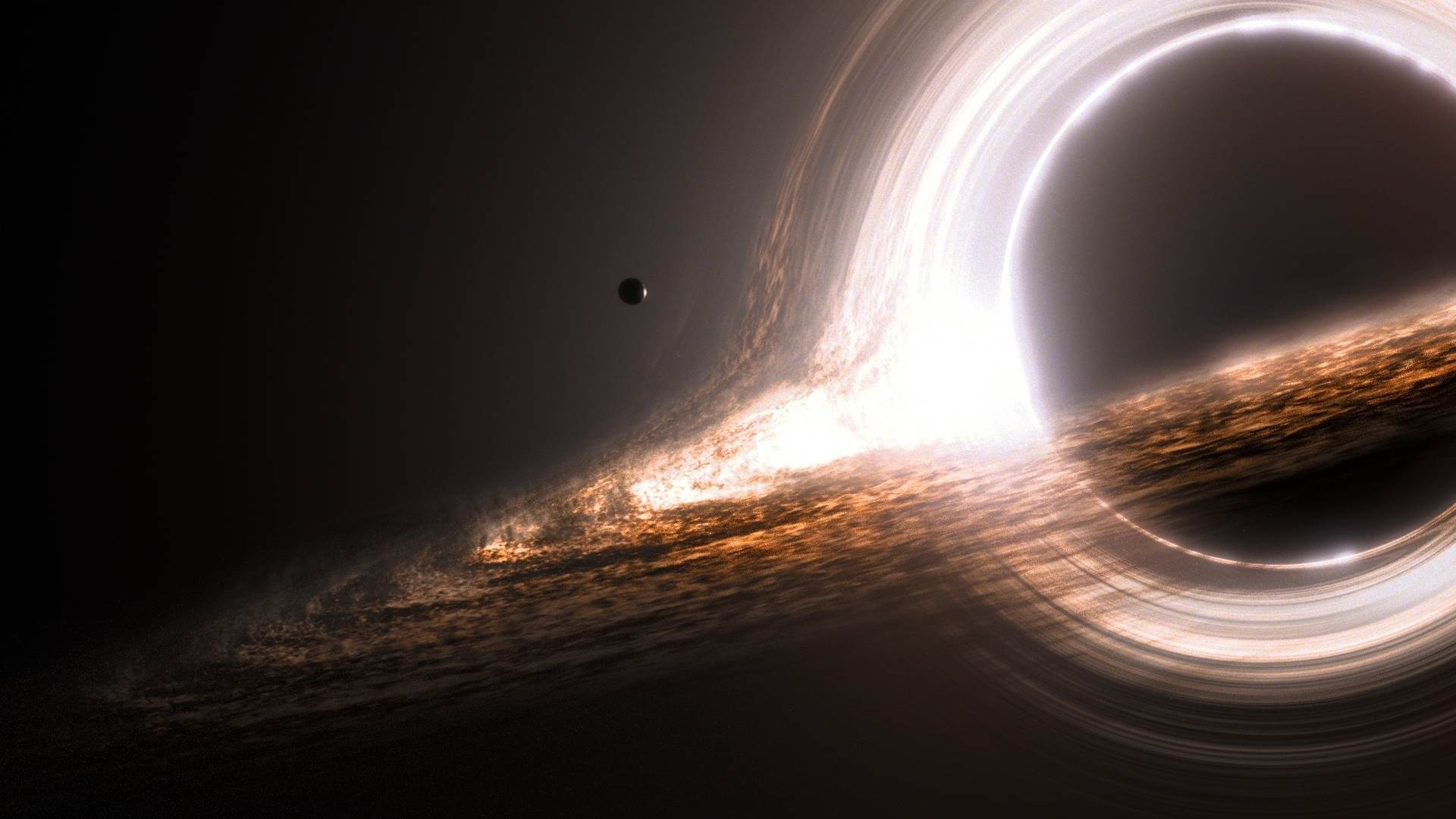 The Black Hole from the movie Interstellar