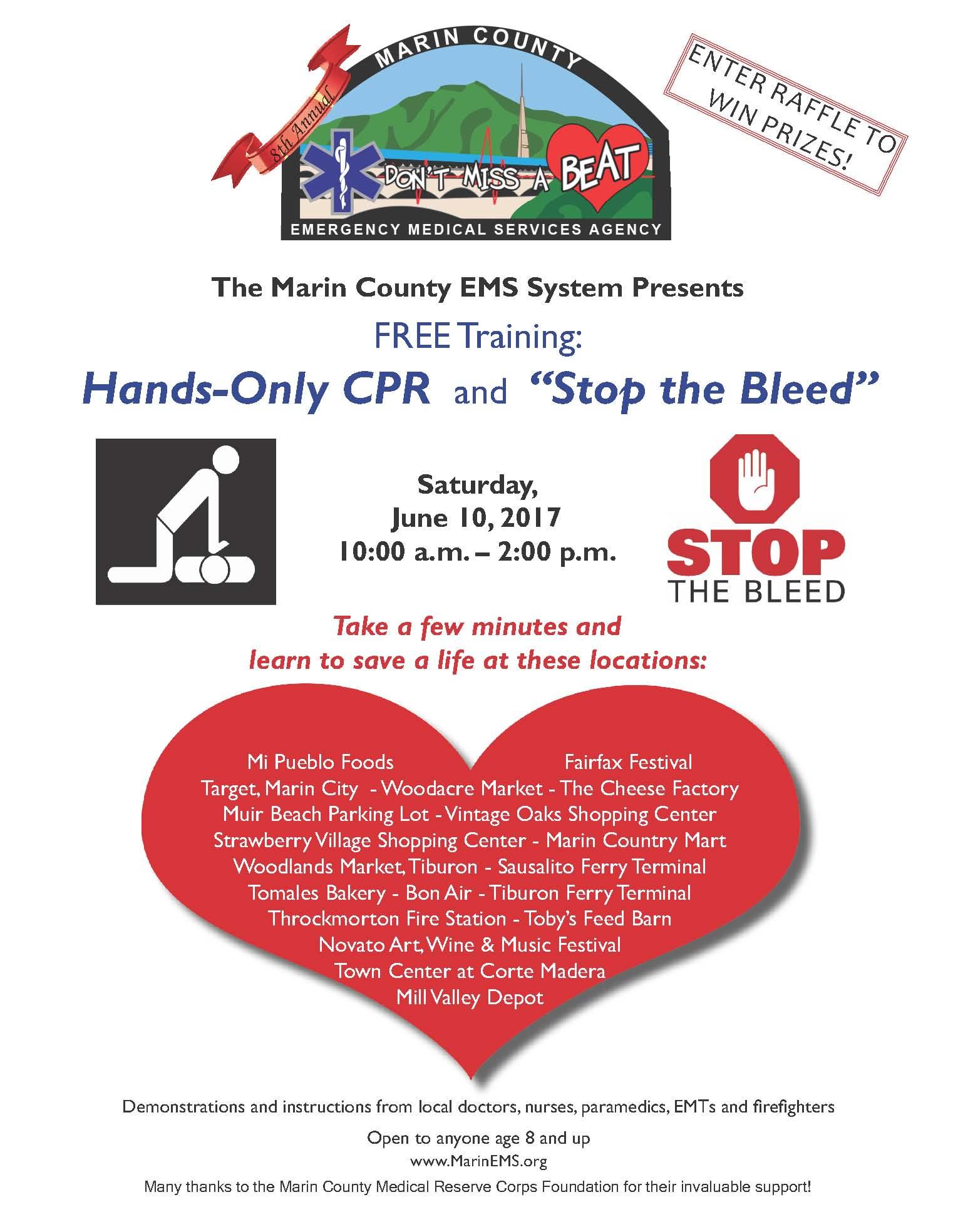 June 10, 2017: Hands-Only CPR