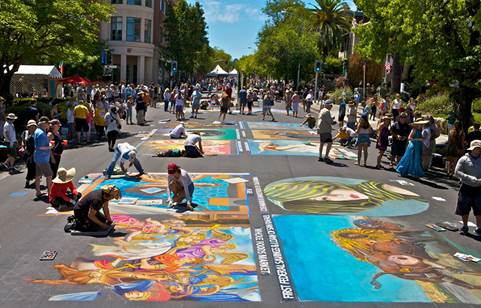 Italian Street Painting, photo by Terry Peck