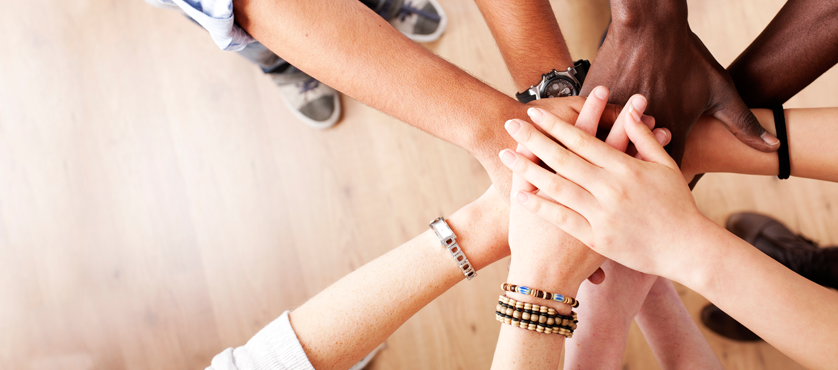hands in teamwork header san rafael employees