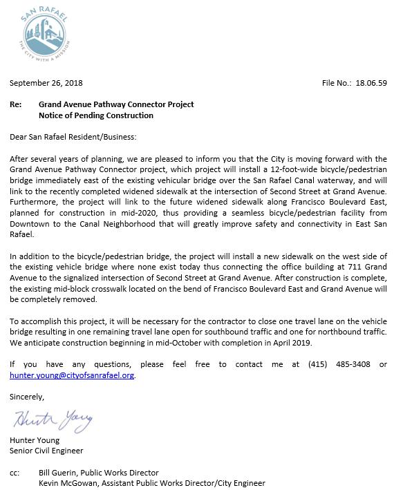 Grand Ave Letter