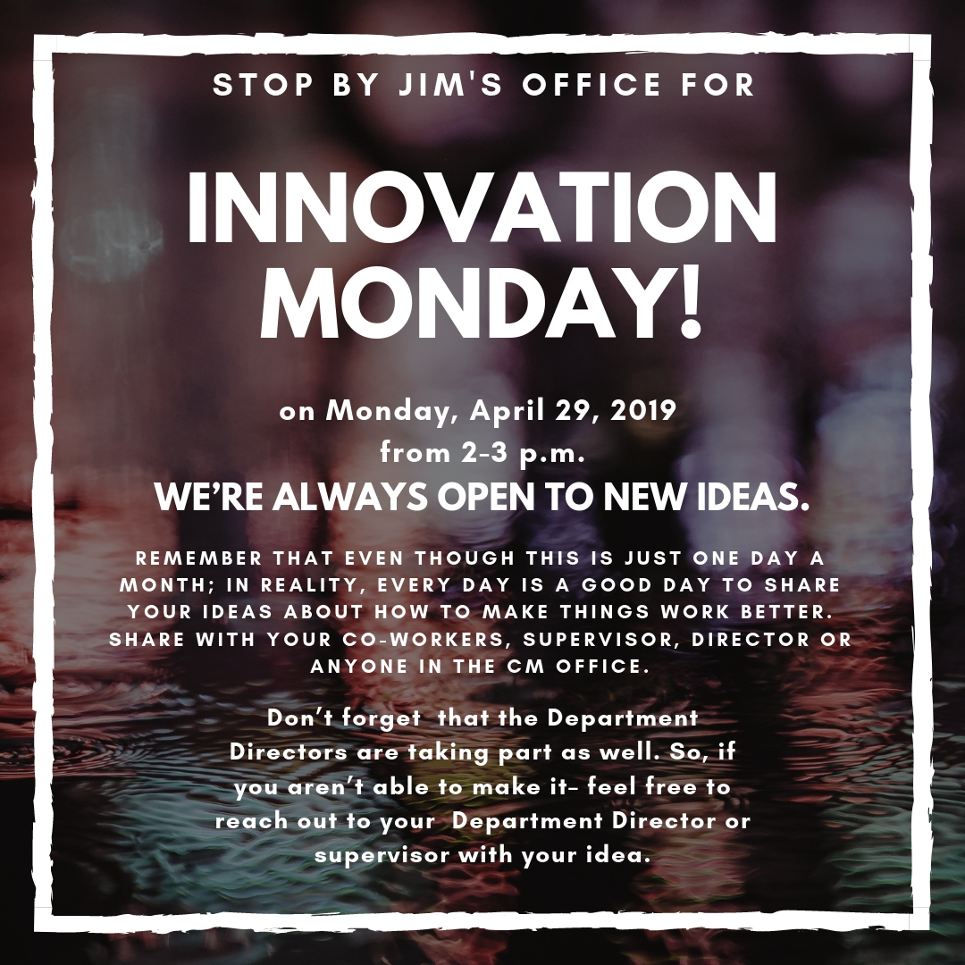 Innovation Monday April 29
