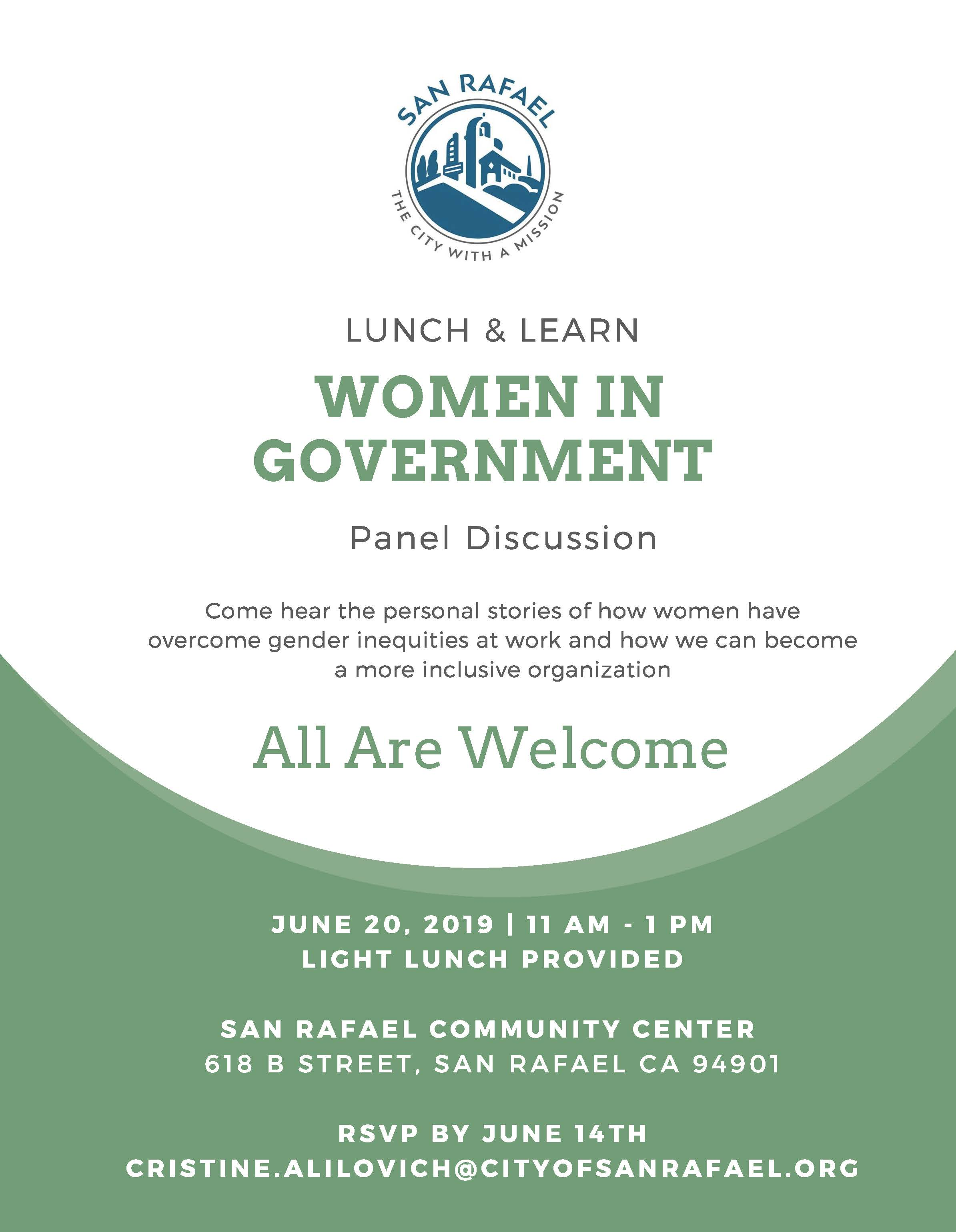Women in Government - Lunch & Learn