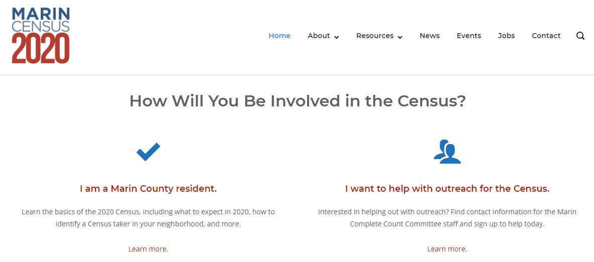 Marin Census 2020 Website