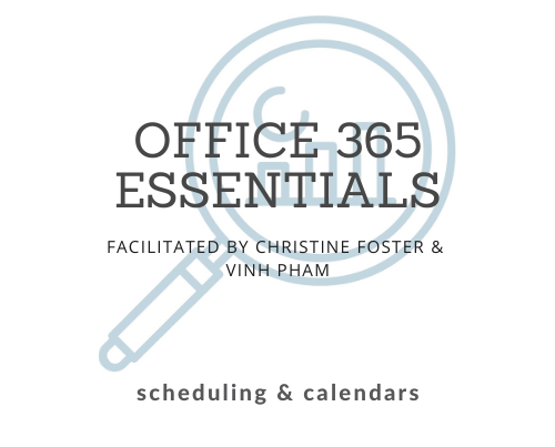 Lunch & Learns - O365, Scheduling & Calendars