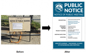 new & old public notice