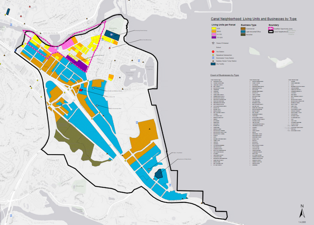 Canal asset map