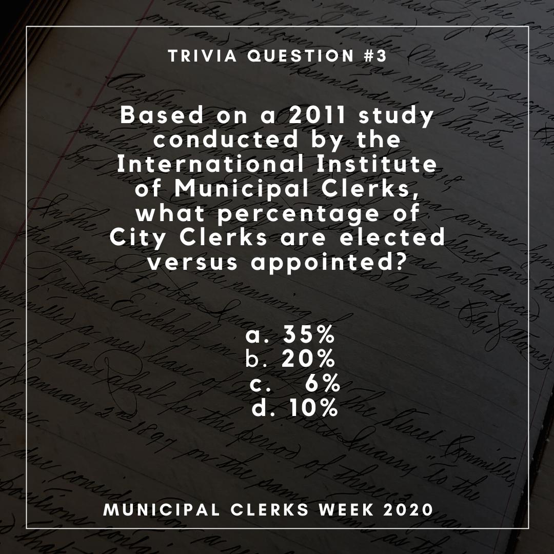 Municipal Clerks Week - Wednesday