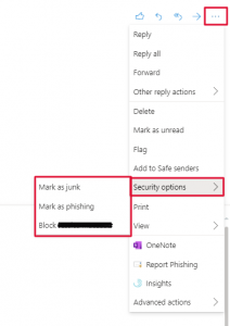 New Phishing Button Outlook