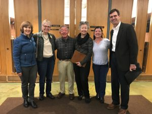 Mulryan Family and UC Marin Master Gardeners photo after City Council Meeting