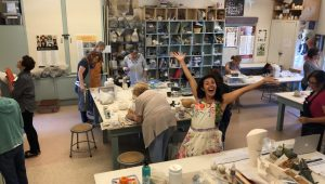 Nadia and her Ceramics Class