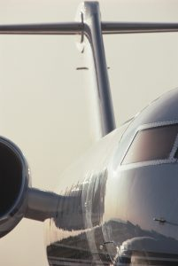 close up of airplane