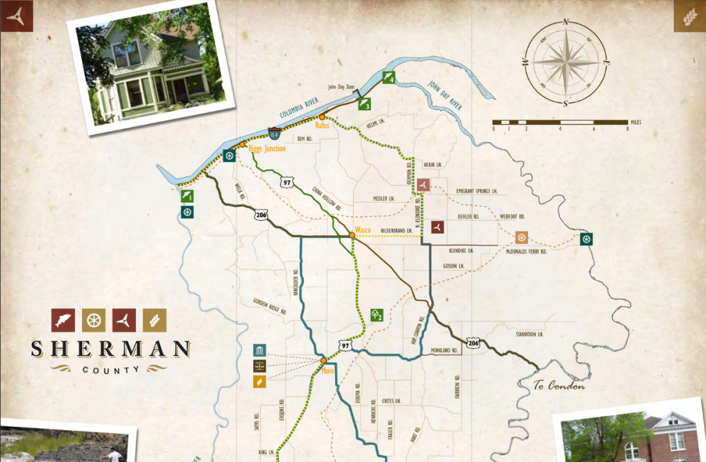 Sherman County Travel Map