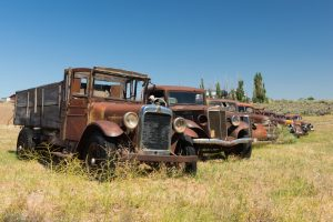 Old trucks in Grass Valley