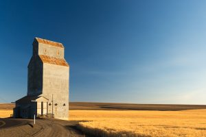A grain elevator on Gordon Ridge Road.