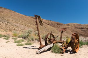 Farm equipment at Cottonwood Canyon State Park