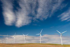 Wind turbines on Herrin Road.