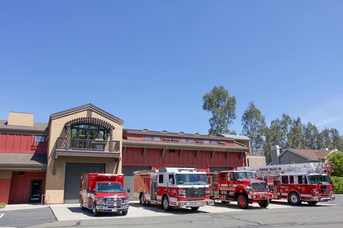 Fire station bays