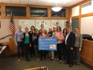 Sonoma City Council with Project Team Celebrating the Completion of the West Napa Street Water System Replacement Project
