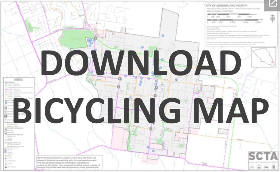 Click to Download the City of Sonoma Bicycling Map