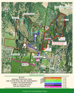 Montini and Overlook Trails Closure Map