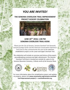 Sonoma Overlook Trail Improvement Project Kickoff Celebration