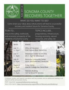 sonoma county fire recovery community listening forums city of sonoma