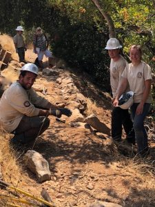 Replacing Retaining Walls near the Top Loop of the Sonoma Overlook Trail