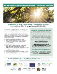 Colaborativo de salud mental debido a los incendios forestales