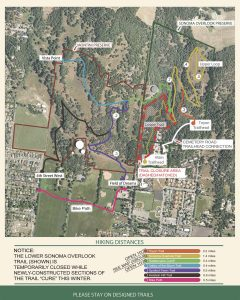Click to Enlarge Montini and Overlook Trails Closure Map