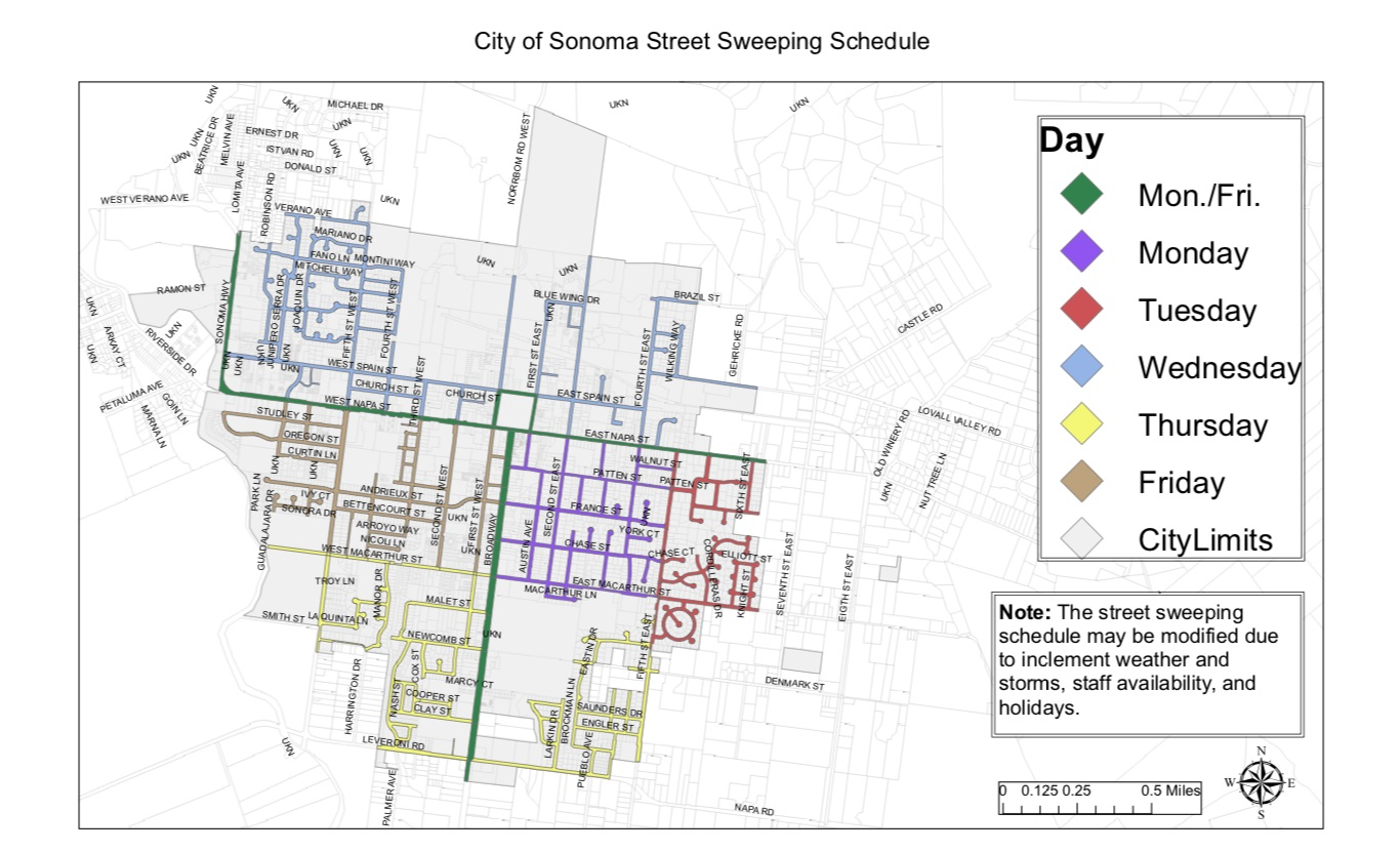 Street Sweeping Map
