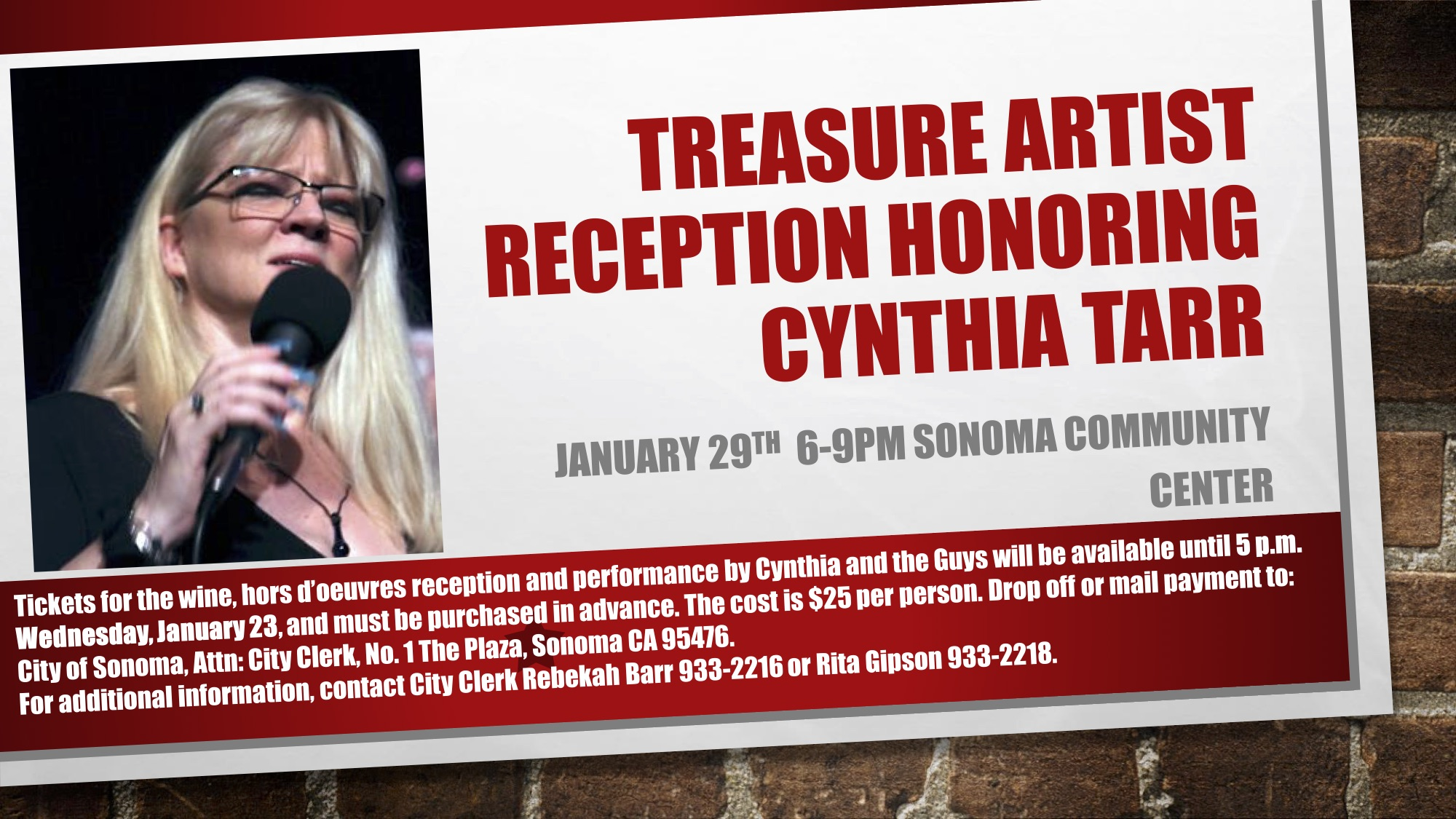 Treasure Artist Reception January 29