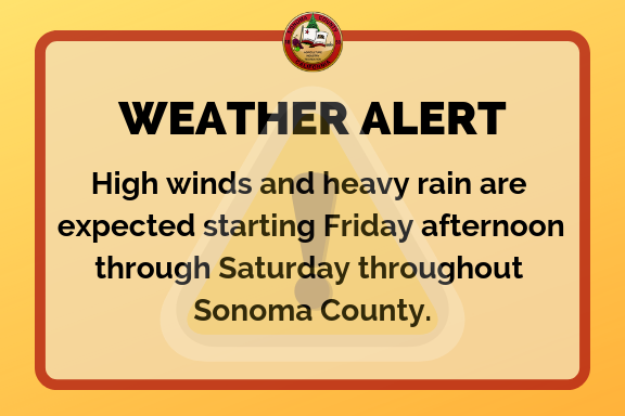 COUNTY OF SONOMA WEATHER ALERT