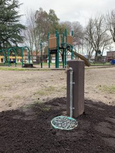 "The New Water Spigot at ""The Big Kid's Playground"" on the Sonoma Plaza"