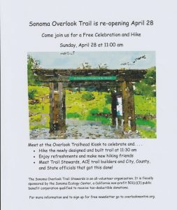 Sonoma Overlook Trail Re-Opening Celebration Flyer