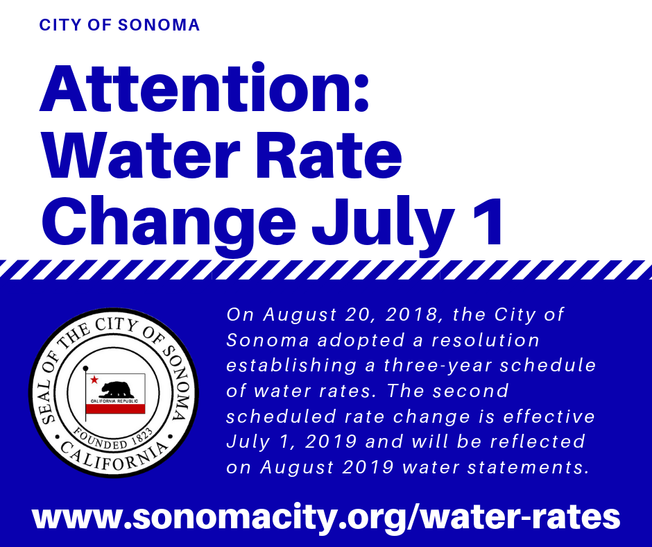 Attention: Water Rate Change July 1