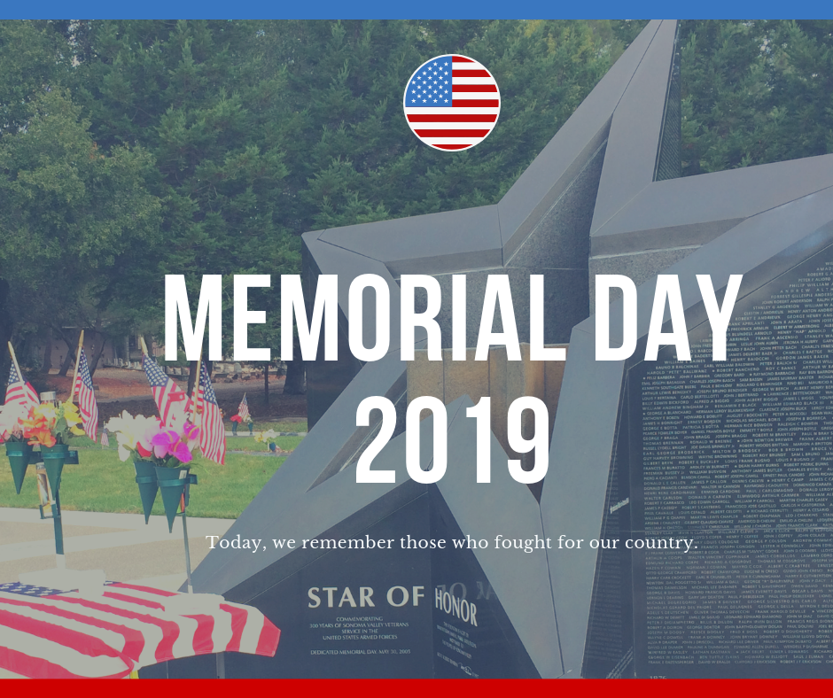City Offices Closed in Observance of Memorial Day