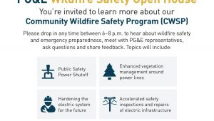 PG&E Wildfire Safety Open House June 27, 2019