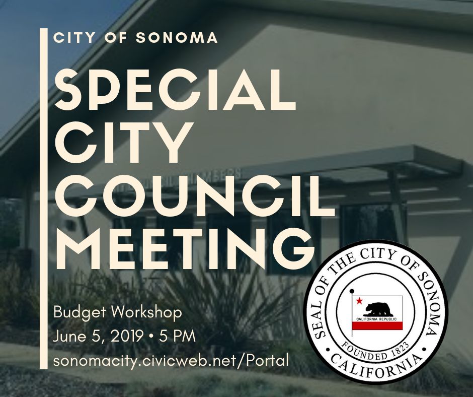 Special City Council Meeting, June 5th