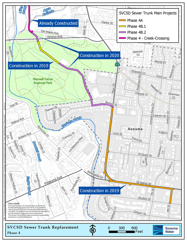 Sewer Main Trunk Replacement Map