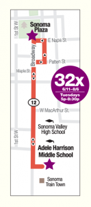 route 32 shuttle express map